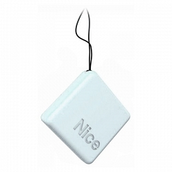 Корпус мини-брелок для пульта NiceWAY серый лёд