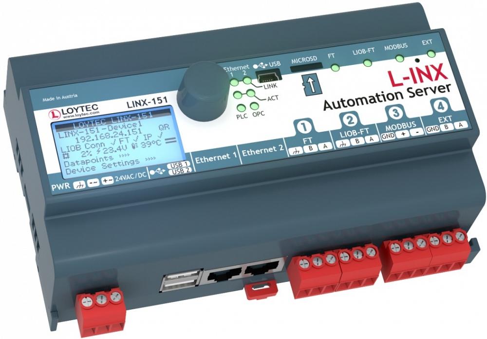 LINX-151 Сервер автоматизации программируемый с разъемом LIOB-Connect