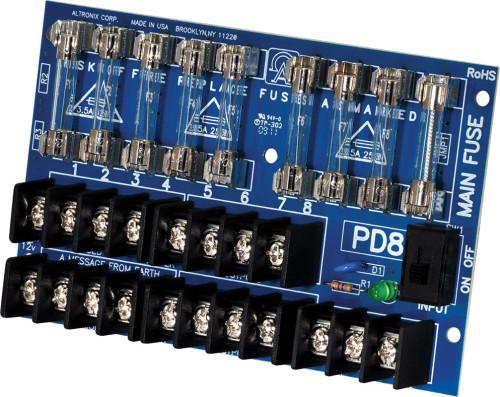 Модуль распределения питания, 8 предохранительных выходов до 28 В Altronix PD8