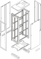 Комплект стенок TLK TFE-2-2410-MM-BK