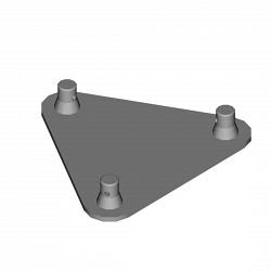 Металлическая конструкция Dura Truss DT 23 BPM Base plate with Male