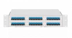 """Оптический кросс NIKOMAX 19"""", 2U, укомплектованный на 48 портов SC/APC, SM 9/125 OS2 NMF-RP48SCAS2-WS-2U-GY"""