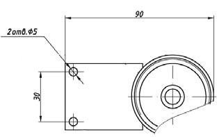 Монтажный кронштейн к Тифон-1П-02-Н