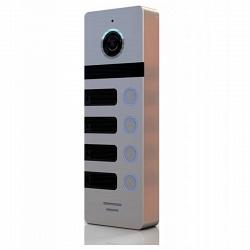 Многоабонентская вызывная панель Сатро САТРО-DP-04-HD110-S (серебро панель 110гр 800твл)