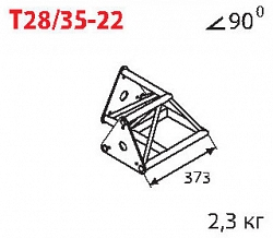 Стыковочный угол  IMLIGHT T28/35-22