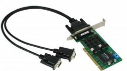 2-портовая низкопрофильная плата MOXA CP-132UL-I-DB9M