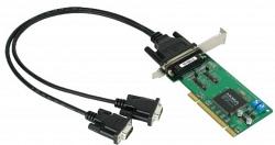 2-портовая низкопрофильная плата MOXA CP-132UL-T