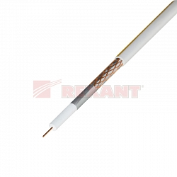 Спутниковый коаксиал Rexant SAT 50м+CU/CU(75 Ом) (01-2401) 100м белый
