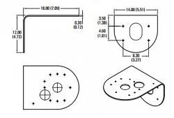 Настенный кронштейн PELCO IMPPMB-1I