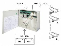 Источник питания для CCTV Бастион SKAT-V.24x12VDC