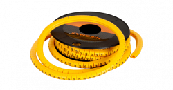"Маркер NIKOMAX кабельный, трубчатый, эластичный, под кабели 3,6-7,4мм, цифра ""4"" NMC-CMR-4-YL-500"