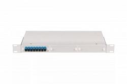 """Оптический кросс NIKOMAX 19"""", 1U, укомплектованный на 12 портов SC/UPC, SM 9/125 OS2 NMF-RP12SCUS2-WS-1U-GY"""