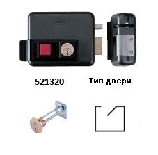 ISEO 5213-20 Тип 2 Замок электромеханический накладной с внутренним цилиндром и кнопкой на выход