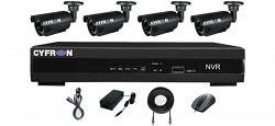Cyfron NV1004-KIT комплект видеонаблюдения, состоящий из 4-х уличных IP-камер