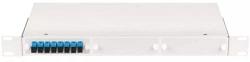"""Оптический кросс NIKOMAX 19"""", 1U, укомплектованный на 2 порта SC/UPC, SM 9/125 OS2, стальной, серый NMF-RP02SCUS2-WS-1U-GY"""