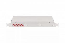 """Оптический кросс NIKOMAX 19"""", 1U, укомплектованный на 8 портов SC/UPC NMF-RP08SCUM2-WS-1U-GY"""