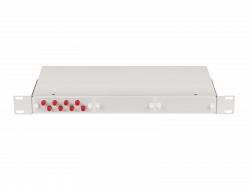 """Оптический кросс NIKOMAX 19"""", 1U, укомплектованный на 2 порта FC/UPC NMF-RP02FCUS2-WS-1U-GY"""