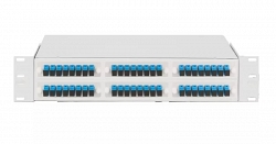 """Оптический кросс NIKOMAX 19"""", 1U, укомплектованный на 36 портов LC/UPC NMF-RP36LCUS2-WS-1U-GY"""