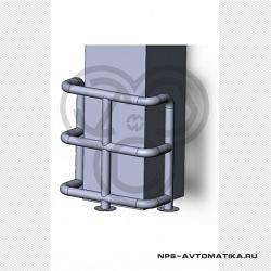 Колесоотбойник для защиты углов КО-76.10.000 СБ НПС-Автоматика
