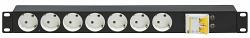 Блок электрических розеток TLK-RS07M-C25-BK
