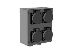 Блок разъёмов IMLIGHT БРН-(1SCHUKO-1XLRf)