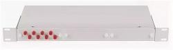 """Оптический кросс NIKOMAX 19"""", 1U, укомплектованный на 4 порта SC/UPC NMF-RP04SCUM2-WS-1U-GY"""