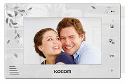 Монитор цветного видеодомофона KOCOM KCV-A374LE (белый) XL