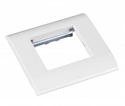Настенная лицевая панель NETLAN EC-FPM-1-WT-10