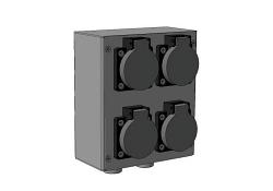 Блок разъёмов IMLIGHT БРН-(1SCHUKO-2XLR)