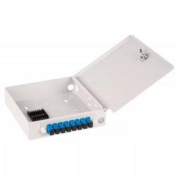 Оптический кросс NIKOMAX настенный, укомплектованный на 6 портов SC/APC NMF-WP06SCAS2-OB-GY