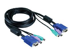 Кабель KVM для подключения клавиатуры, мыши и монитора  D-link DKVM-CB