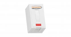 Корпус настенной розетки NIKOMAX NMC-MB1P-ST-WT