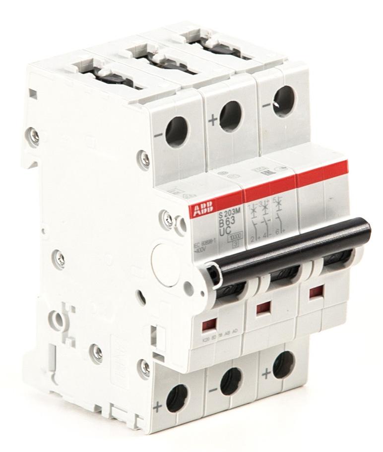 Автоматический выключатель постоянного ток ABB S203M-B63