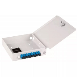Оптический кросс NIKOMAX настенный, укомплектованный на 6 портов SC/UPC NMF-WP06SCUS2-OB-GY