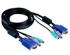 Кабель KVM для подключения клавиатуры, мыши и монитор  D-link DKVM-CB5