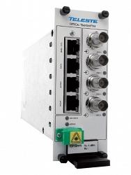 Четырехканальный передатчик видео-аудио-данных-контактов Teleste CRT491