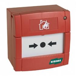 MCP5A-RP02FG-Е010-02 ИП535-20 Извещатель пожарный ручной адресный, КЗ, красный ESMI