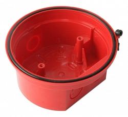 База для оповещателей высокопрофильная водонепроницаемая, красная, IP65 ESMI