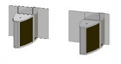 Проходная с прямоугольными стеклянными створками (комбинированный центральный модуль) Gunnebo SSFCNCLH120NL
