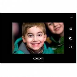 Монитор цветного видеодомофона KOCOM KCV-A374SD-4 (черный)