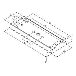 MAGAC-M500 Монтажная плита для крепежа ответной пластины