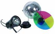 Зеркальный шар с приводом и цепью    EUROLITE     Mirror Ball 30 cm SET