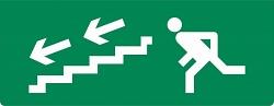 """Плоское световое табло Молния-12 """"Человек вниз по лестнице налево"""""""