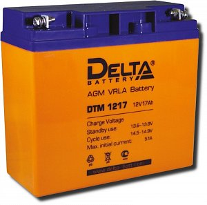Аккумулятор 12 В, 17 Ач DTM 1217 Delta