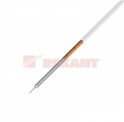 Кабель Rexant Microcoaxial+Cu (75 Ом)D4мм (01-2601) 200м белый