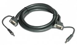 Кабель VGA (HD15) + 3,5 мм аудио (Вилка - Вилка) (Малодымный, без галогеноводородов) CLS-GMA/GMA-25