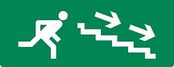 """Плоское световое табло Молния-12 """"Человек вниз по лестнице направо"""""""