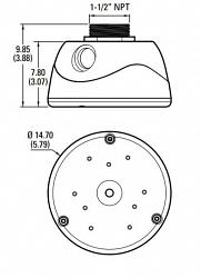 Адаптер крепления для камер серии Sarix Professional 2 Environmental Dome PELCO IMPPM-1ER