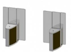 Проходная с прямоугольными стеклянными створками (комбинированный центральный модуль) Gunnebo SSFCNORH180NS
