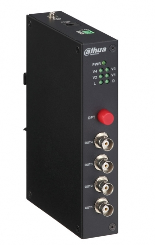 4-канальный оптический приёмник HDCVI